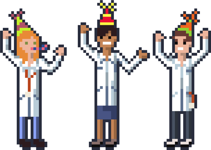 A group of partying doctors